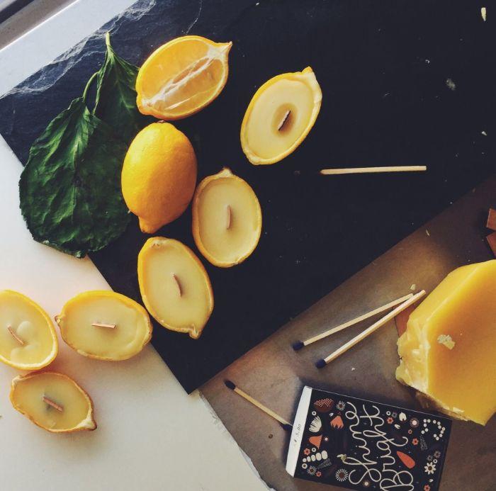 printemps maison decoration de citron avec de la cire idée comment fabriquer des bougies maison soi meme