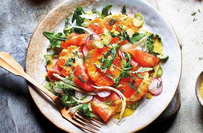 recette a base de saumon avec des légumes et des clémentines recette originale