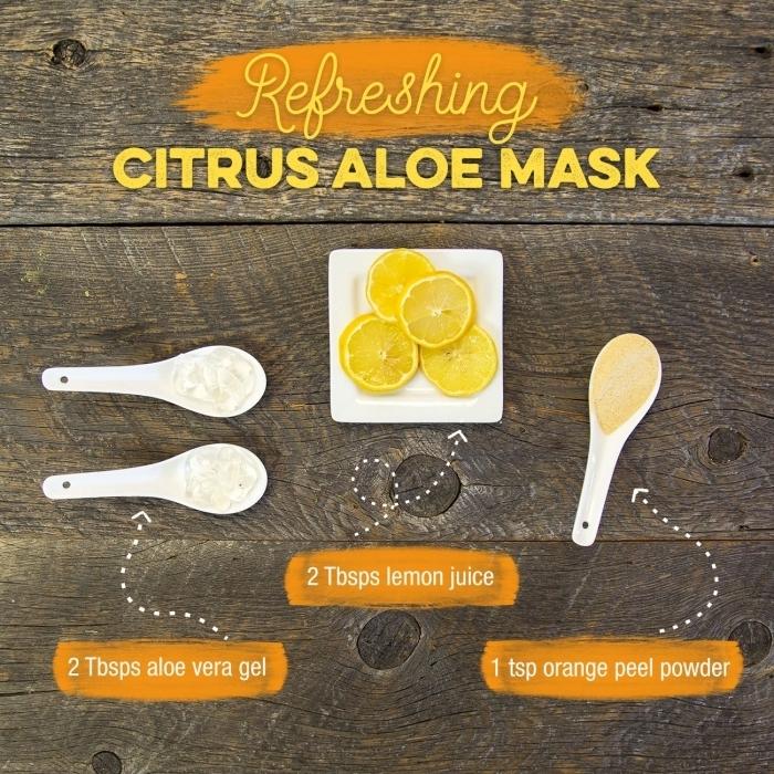 recette pour préparer un masque visage avec feuille gel aloe vera tranches de citron aloe vera recette