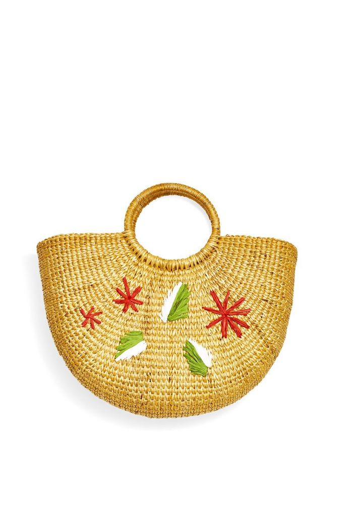 sac cabas de courses tress et décoré de fils colorés activité manuelle fete des grand mere