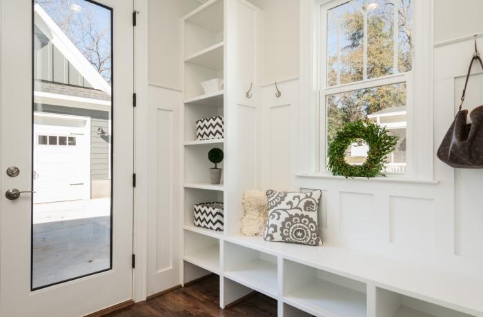 aménagement couloir entrée nettoyage vitre porte fenêtre sans produits chimiques nettoyeur vapeur
