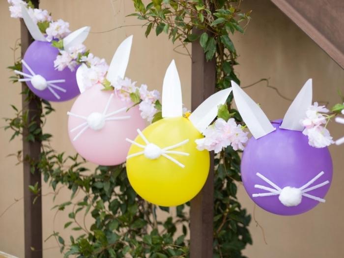 bricolage de paques maternelle diy guilande activité manuelle maternelle décoration fleurs papier oreilles