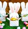 bricolage paque maternelle mini boîte oeufs au chocolat forme lapin papier cartonné peinture acrylique