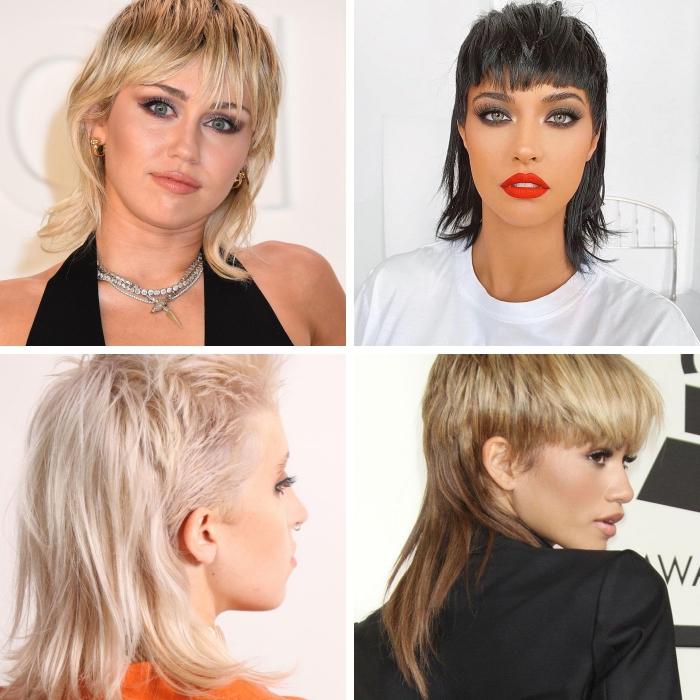 coupe de cheveux tendance capillaire 2021 femme cheveux mullet pixie coloration