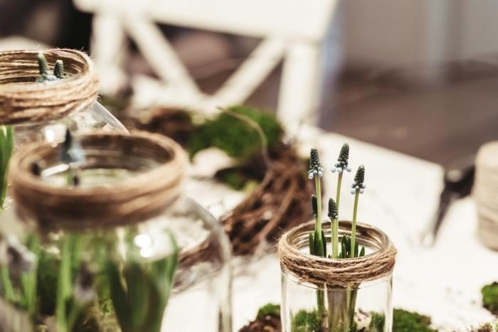 détournement objet zero déchet projets recyclage bocal verre en vase geste nature preservation gestes éco-friendly