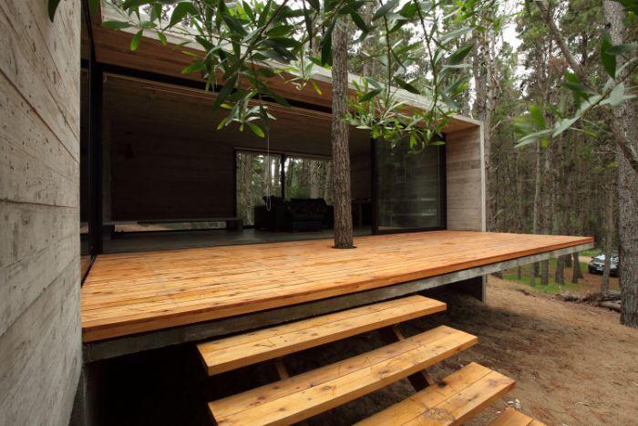 deco exterieur maison terrasse en hauteur devant maison de bois ecologique exemple design d intérieur d exrtérieur