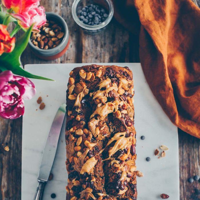 gateau beurre de cacahuète bababes et pépites de chocolat exemple de dessert healthy et original fait maison