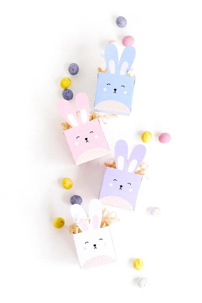 mini boite pour bonbons oeuf chocolat bricolage de paques maternelle boîte en papier scrapbooking