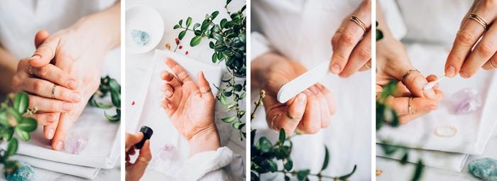 soins beaute mains detox ongles sans vernis ongle printemps 2021 manucure japonaise