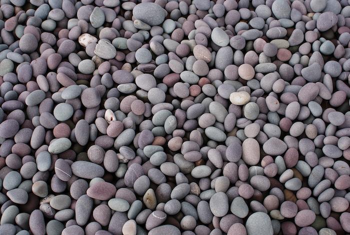 exemple de galets de tailles variées pour e chemin de jardin