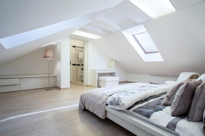 aménager des combles fenetre de toit éclairage lumière naturelle accès grenier design combles