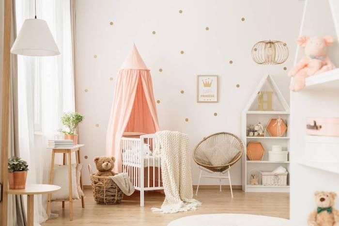 chambre d enfant bebelid bebe blanc chaise papillon en rotin