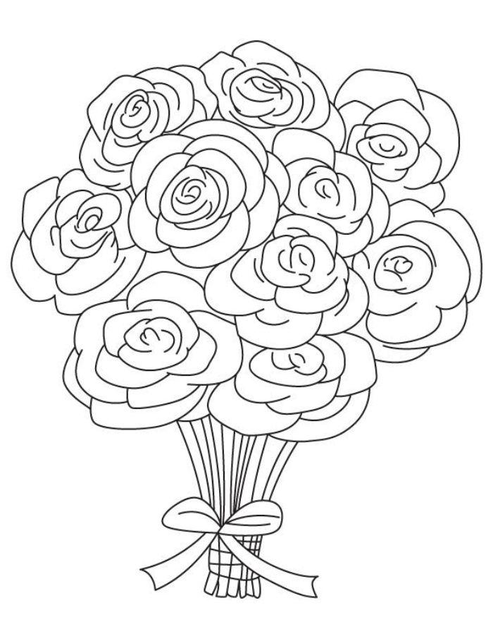 comment dessiner une rose au crayon idée de croquis sans couleur à réaliser par enfant débutant