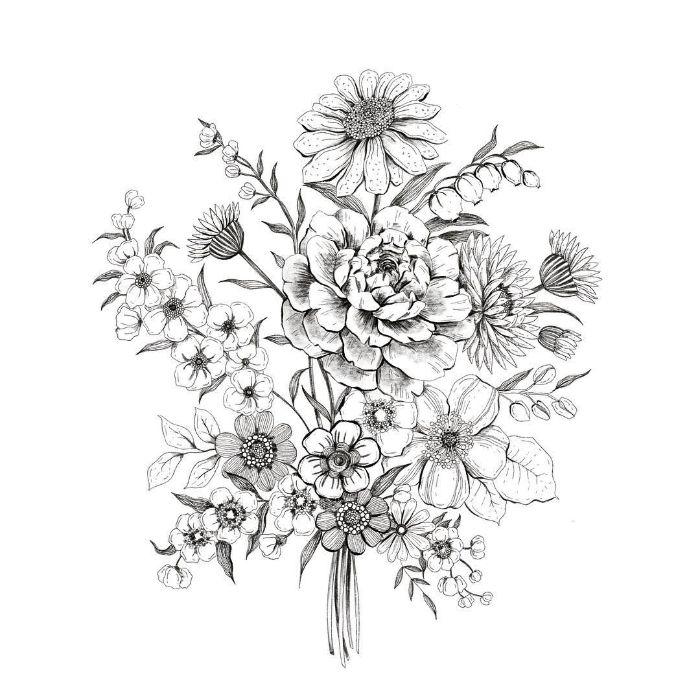 comment faire un dessin difficile idee de plusieurs plantes brassière image de printemps fleurie