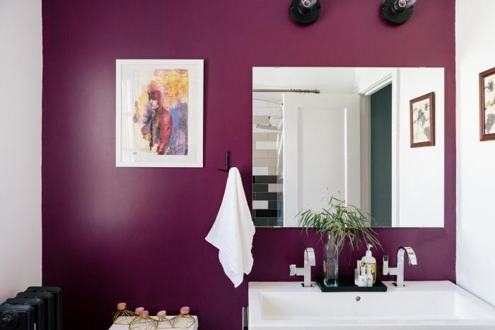 comment peindre un mur dans salle de bain miroir rectangulaire crochet serviette de bain accessoires