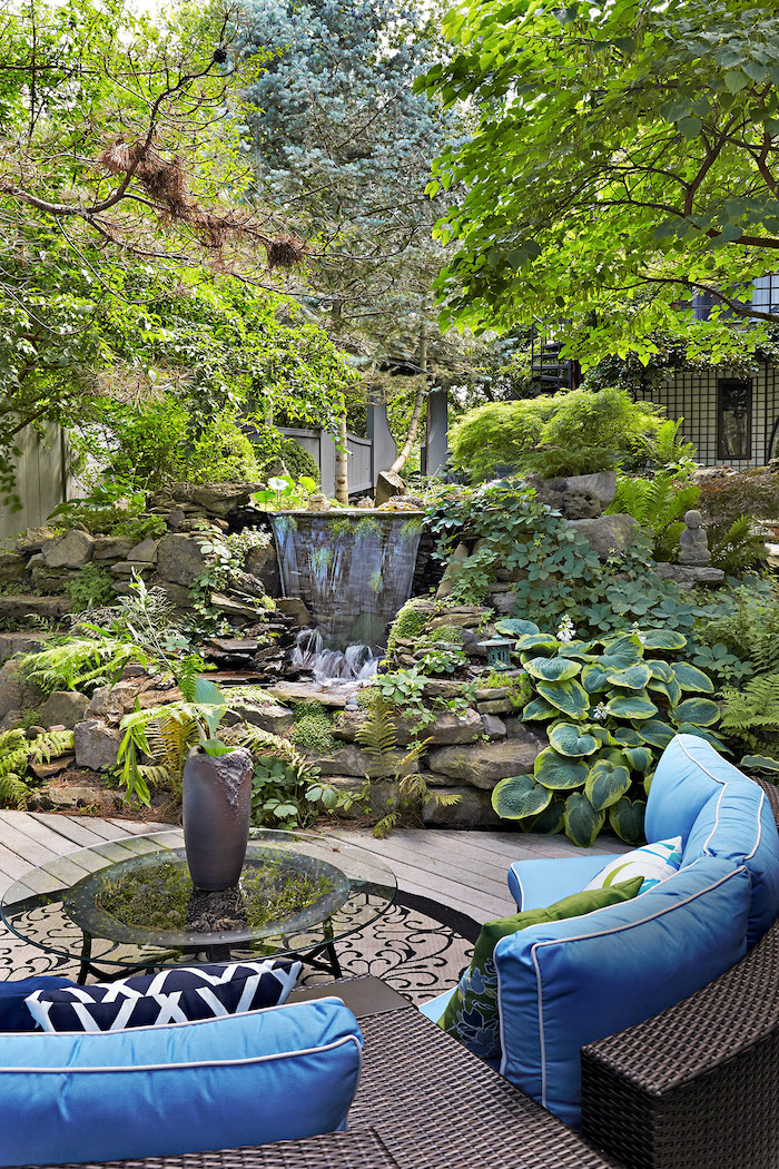 conseil jardinage d aménager l espae verte avec une cascade