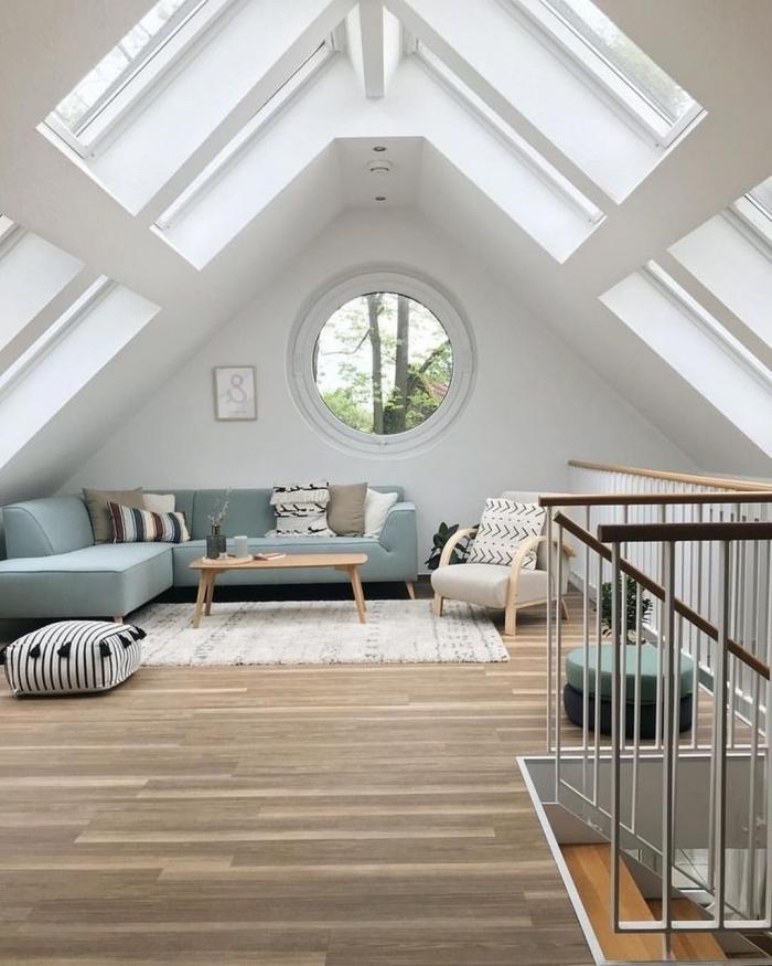 décoration intérieure revetement plancher sol stratifié escalier moderne aménagement combles idées