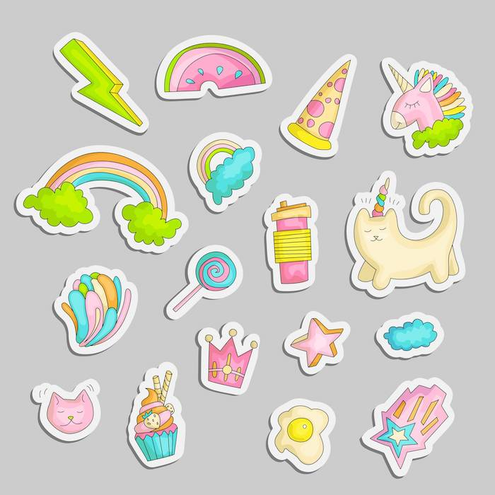 des stickers diversers pour une chambre d ado collant image licorne