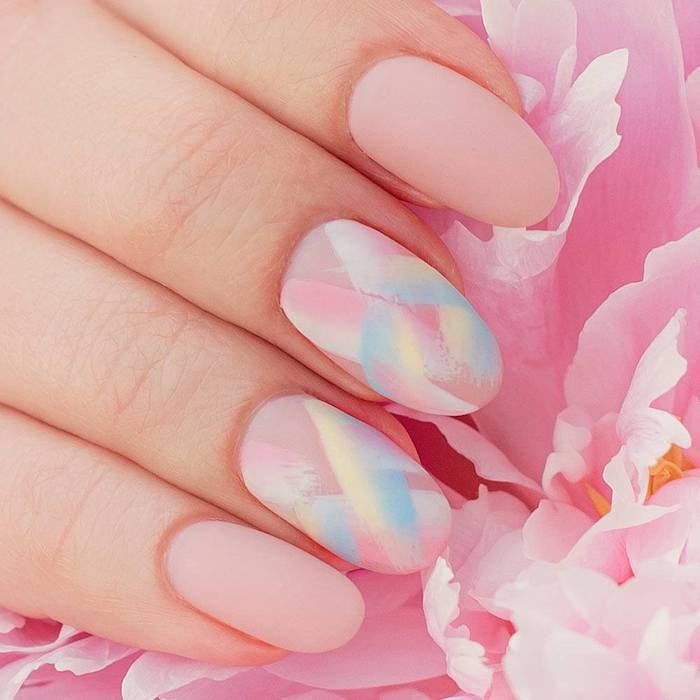 easter nails designs pastel pink matte