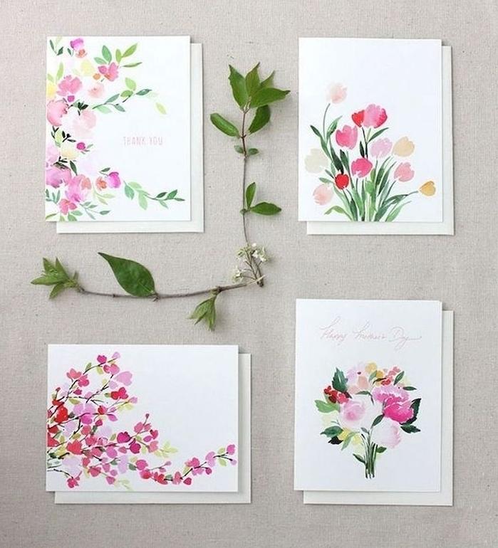 exemples d une carte bonne fete maman avec des fleurs multicolres