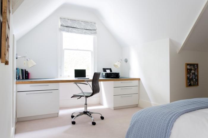 grenier aménagé organisation espace aménagement bureau a domicile dans la chambre a coucher