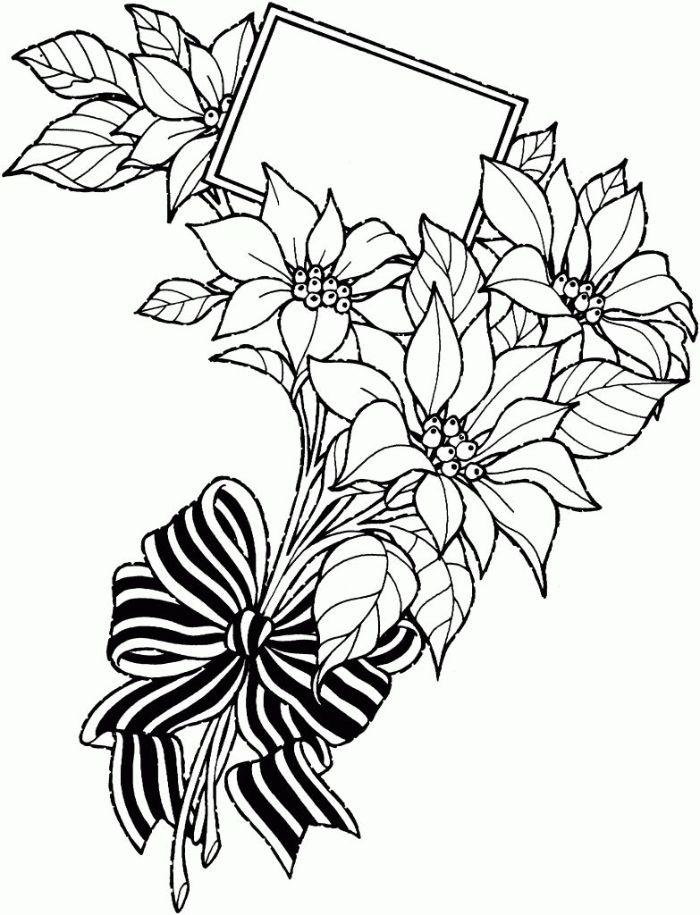 idée carte d anniversaire fleurie boquet noué d un ruban noir et blanc et petite étiquette insérée