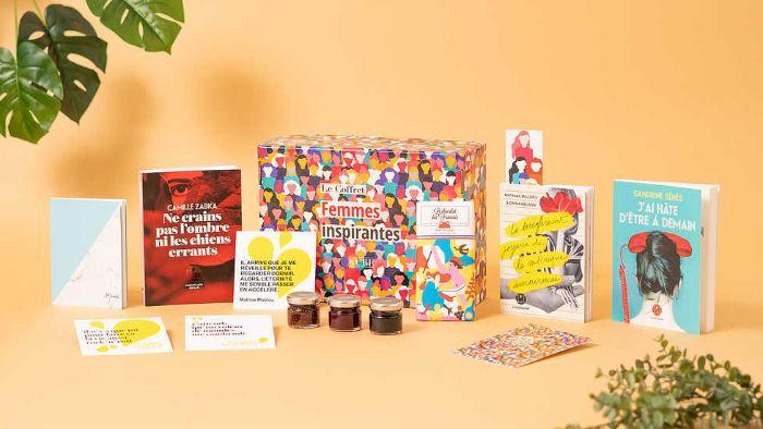 la kube box livres femmes inspirantes pots de confiture carnet cartes cadeau fete des meres