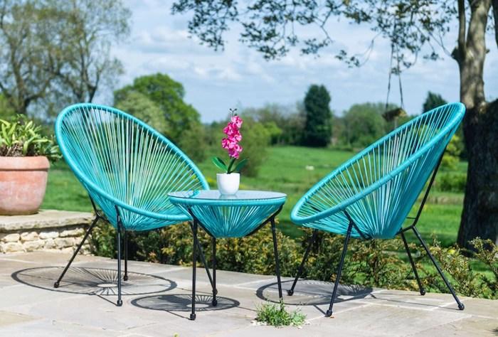 quelle peinture pour un meuble en rotin de choisir des chaises et une table a café en turquois
