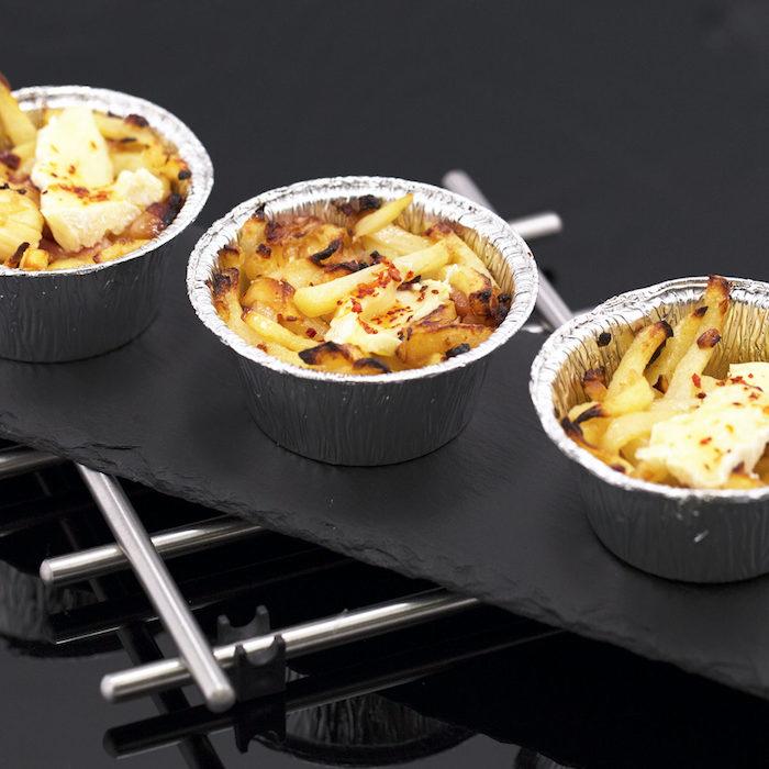 recette de camember au four lardon dans petites coupes