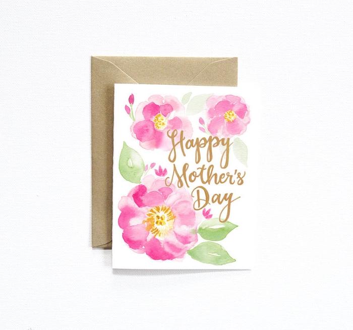 un jolie carte avec dessin pour la fête des mères comment faire