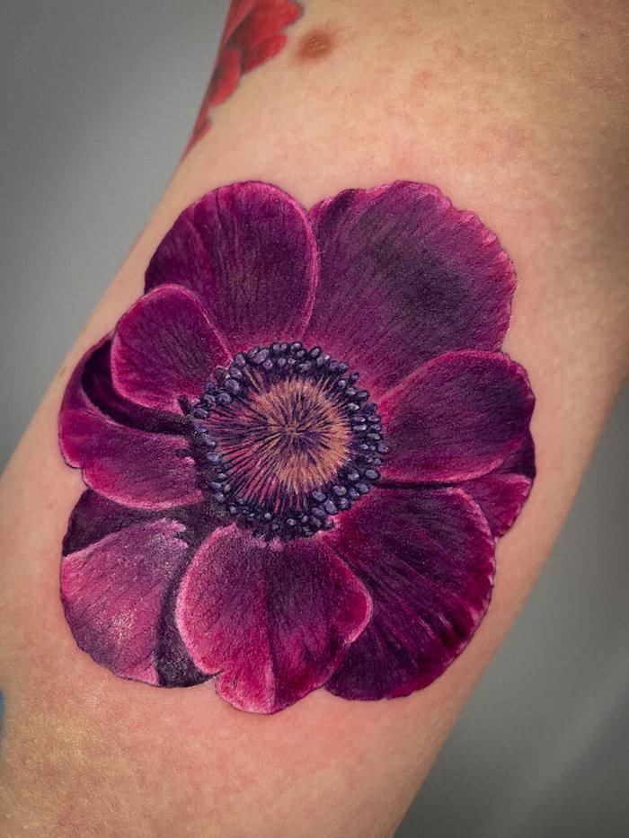 realistic flower tattoo sleeve 4