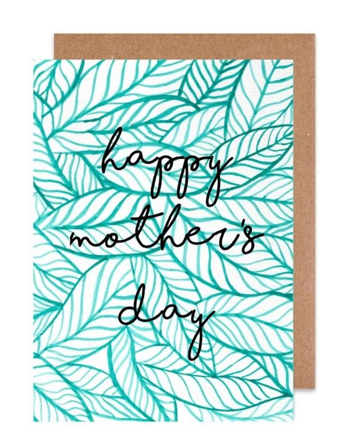 une idée de dessin avec motifs floraux pour la fete de maman