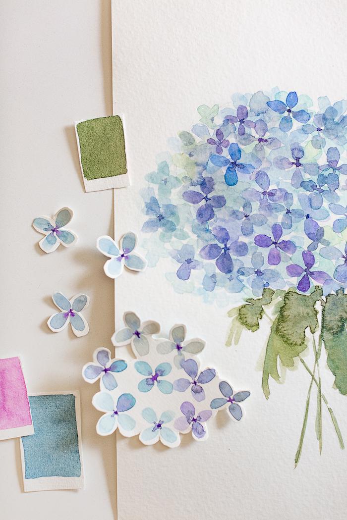 une idée de jolie carte fête des mères avec découpage et des elements floraux