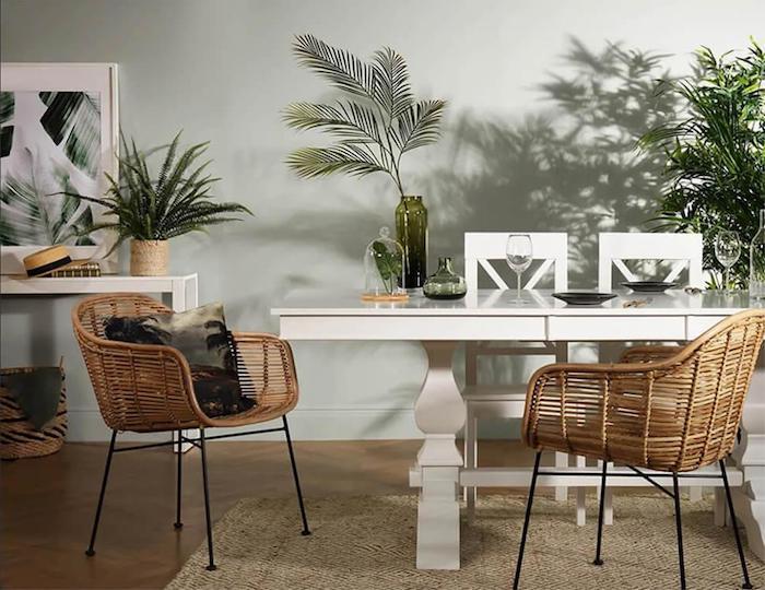 une idée pour l' intérieur avec meuble année 70 une chaise en rotin des des pot de palmes