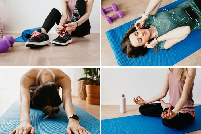 bienfaits du sport exercices maison santé mentale et physique bien être activité