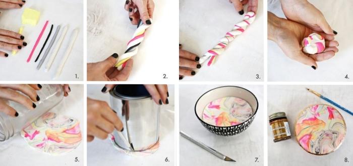 bricolage ado argile couleurs jar verre cadeau a faire soi meme diy bijou collier en argile