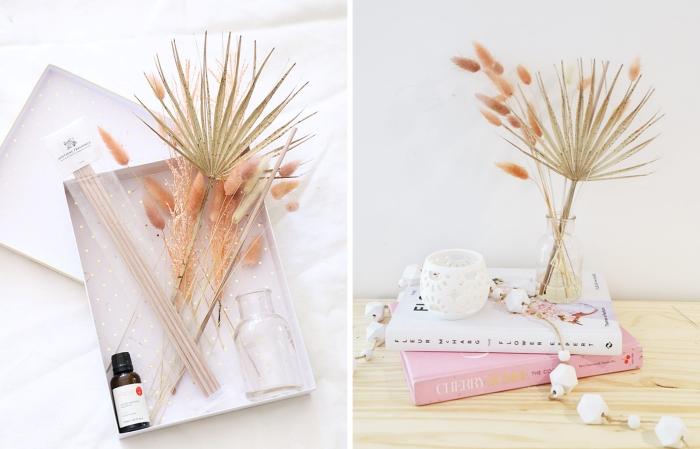 bricolage ado facile bâtonnets bois bambou huile essentielle contenant en verre diffuseur aromathérapie diy