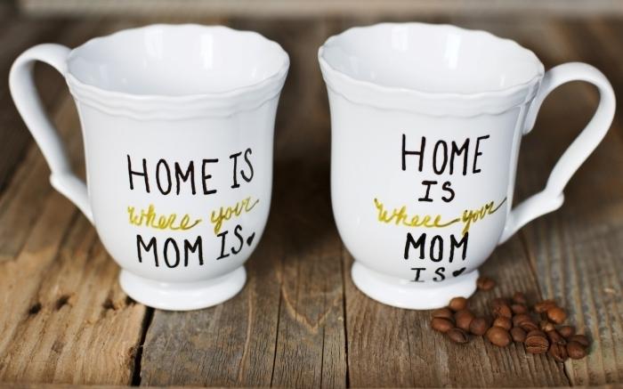 diy tasse a café thé mug a personnaliser avec message cadeau fête des mères à fabriquer soi même