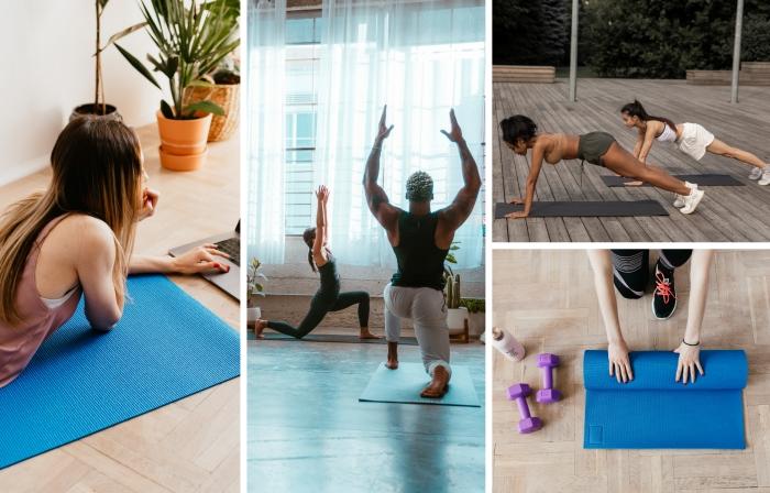entrainement maison séance de sport avec coaching sportif éducateur yoga exercices
