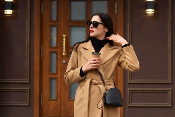 manteau femme couleur camil lunettes de soleil femme