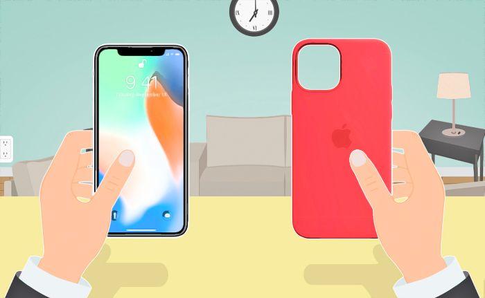 photo de portable iphone coque rouge