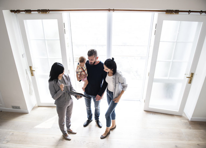family buying new house