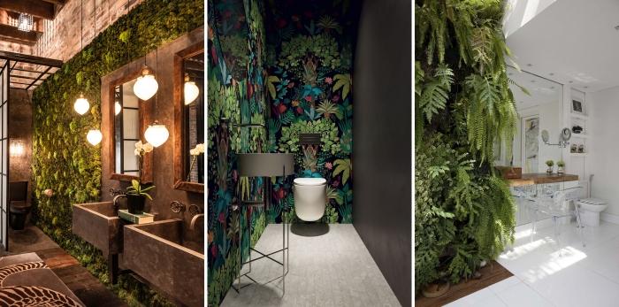 design intérieur décoration nature style contemporain accents métal lavabo béton poutres bois apparentes