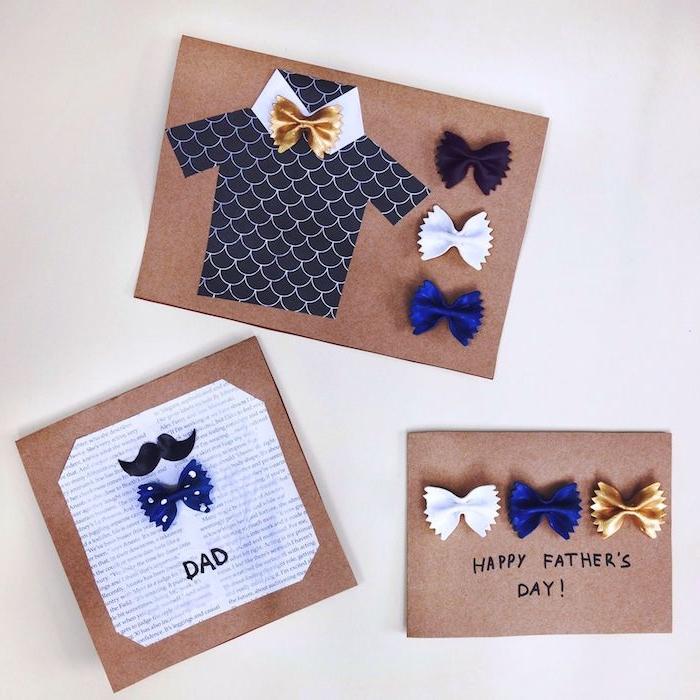 papier crafte pour carte pour papa fait main p6ates colorés noeud de papillon chemise moustaches papier