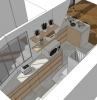plan design intérieur conception architecte intérieur agencement cuisine en longueur avec îlot