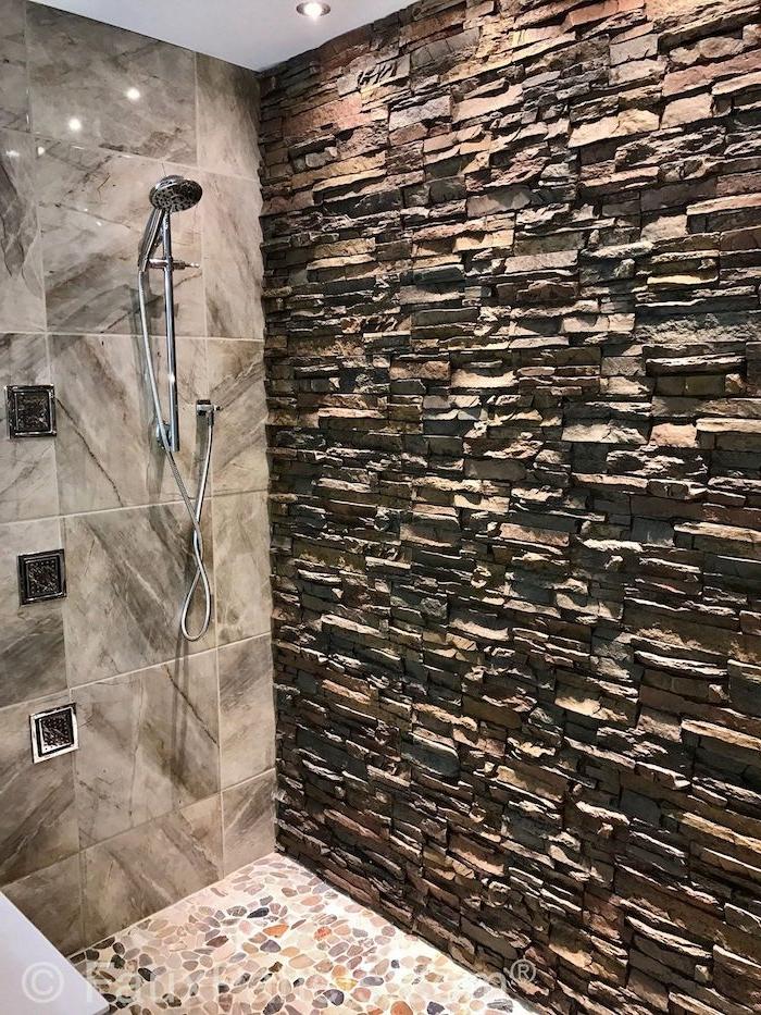 salle de bain ppierre naturelle beige différents types de pierre dans la salle de bain
