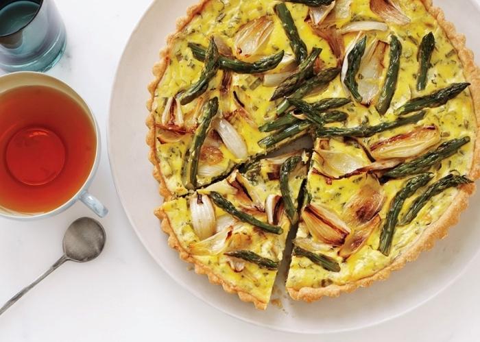 tarte aux légumes recette facile et rapide oignon jaune oeufs farine et fromage blanc