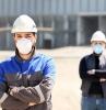 btp chantiers trouver periode de crise ouvriers de chantier aux masques