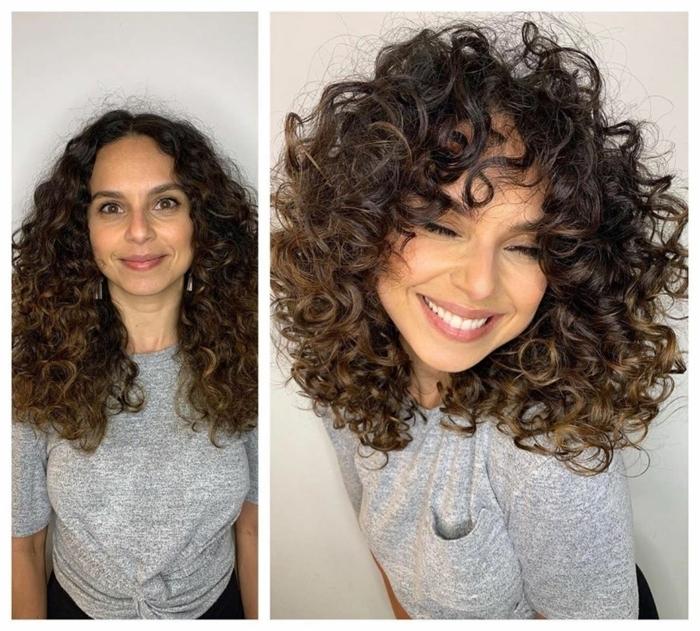 cheveux courts bouclés photo avant et après d'une fille qui a coupé ses cheveux resized