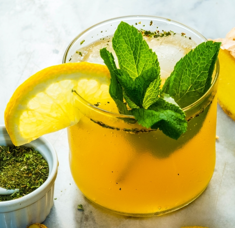 cocktail sans alcool mojito mangue jus citron verte menthe fraîche